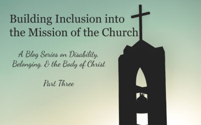 Building Inclusion into the Mission of the Church